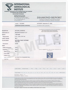 igi diamonds certificate