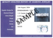 sample diamonds certificate