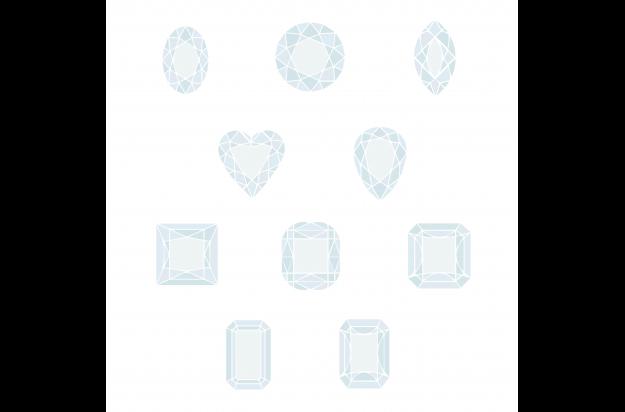 A Diamond Shape Infographic