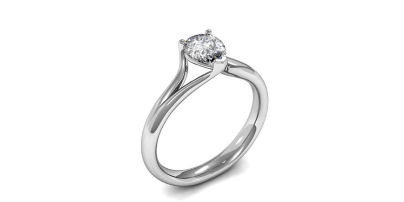 Contemporary Pear Shaped Engagement Rings