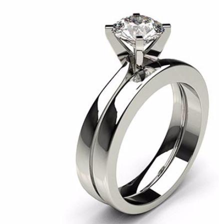 Klassische Solitaire Verlobungsringe