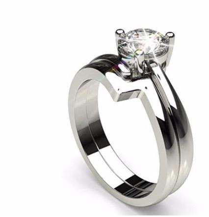 Einzigartig Geformte Verlobungsringe