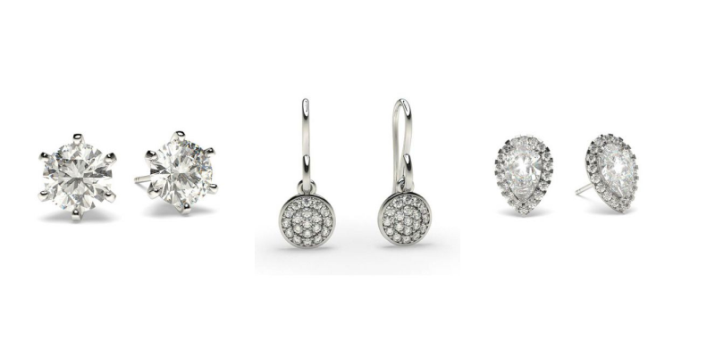 Diamond Earrings - Ready To Deliver