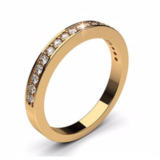 Rose Gold Half Eternity - Valentine Ring