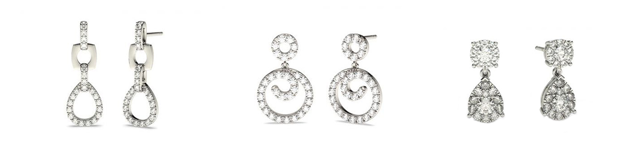 Boucles d'Oreilles Chute De Diamants