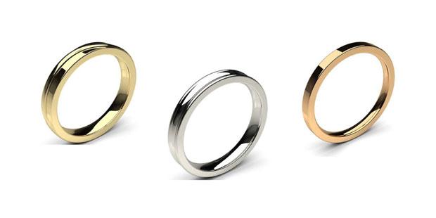 plain wedding rings