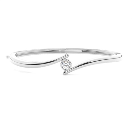 Full Bezel Setting Round Diamond Bangle