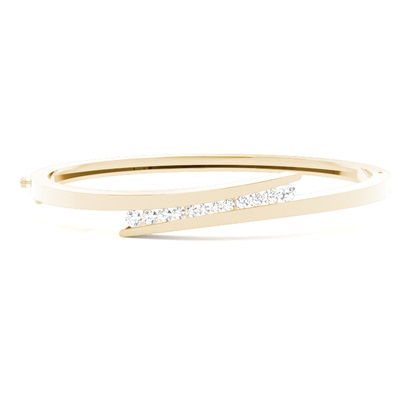 Round Yellow Gold Bangles Bracelets