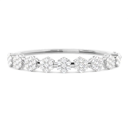Prong Setting Round Diamond Bangle