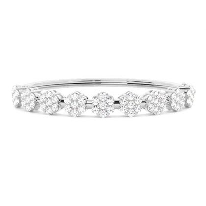 Round Platinum Bangles Bracelets