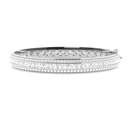 Channel Setting Round Diamond Bangle