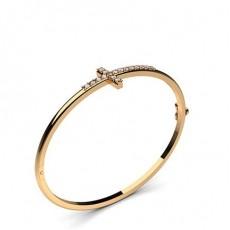 Round Rose Gold Bangles Bracelets