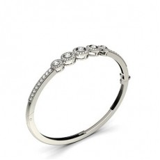 Full Bezel & Pave Setting Round Diamond Bangle