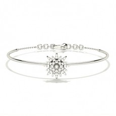 Prong Setting Round Diamond Everyday Bracelet