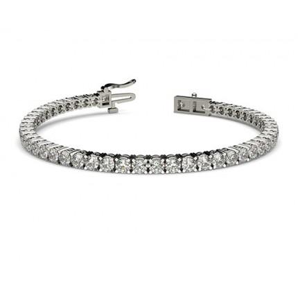 4 Prong Set Diamond Tennis Bracelet