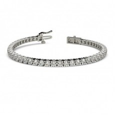 4 Prong Set Diamond Tennis Bracelet