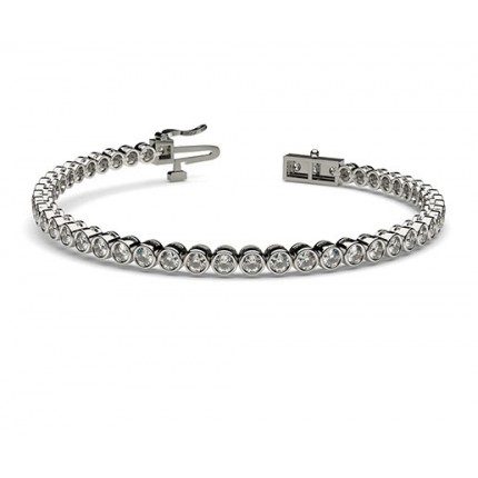 Full Bezel Setting Tennis Bracelet