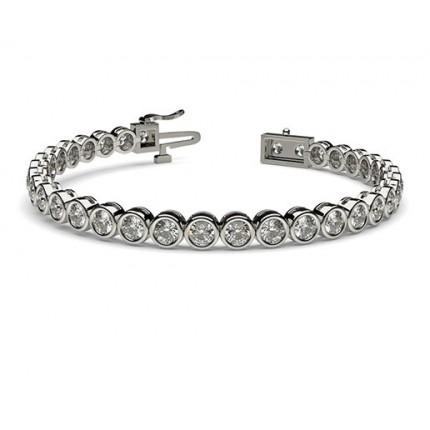 Bezel Set Tennis Bracelet