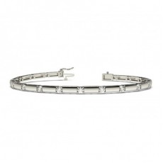 4 Prong Setting Round Diamond Designer Bracelet