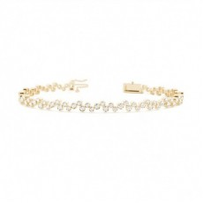Round Yellow Gold Evening Bracelets