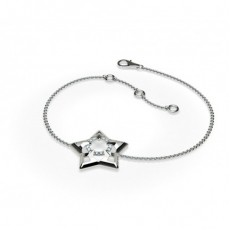 0.05ct. Prong Setting Round Diamond Delicate Bracelet