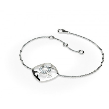 0.10ct. Prong Setting Round Diamond Delicate Bracelet