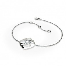 0.10ct. Prong Setting Round Diamond Delicate Bracelet