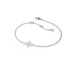 0.20ct. 4 Prong Setting Round Diamond Delicate Bracelet