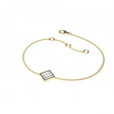 Princess Yellow Gold Delicate Bracelet