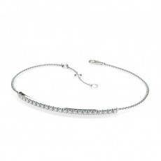 0.30ct. 4 Prong Setting Round Diamond Delicate Bracelet