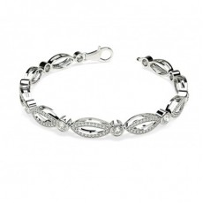 Full Bezel Setting Diamond Bracelets