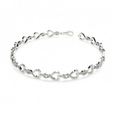 Round Platinum Evening Bracelets