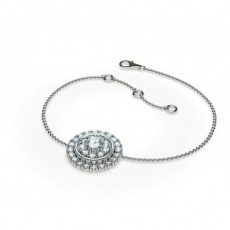0.50ct. Prong Setting Round Diamond Delicate Bracelet