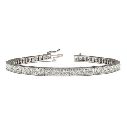 Channel Setting Princess Diamond Tennis Bracelet