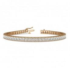 Princess Rose Gold Tennis Bracelets