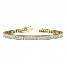 Princess Yellow Gold Tennis Bracelets