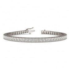 Channel Setting Princess Diamond Tennis Bracelet