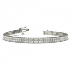 Two Row Prong Set Diamond Tennis Bracelet