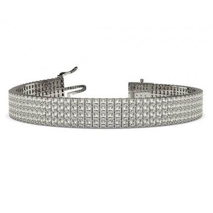 4 Row Prong Set Diamond Tennis Bracelet