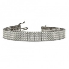 White Gold Multi-Row Tennis Bracelets