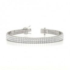 Three Row Prong Set Diamond Tennis Bracelet