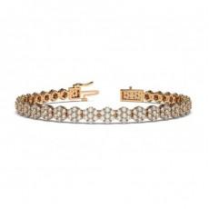 Round Rose Gold Tennis Bracelets