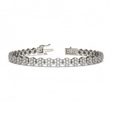 Prong Set Cluster Tennis Bracelet