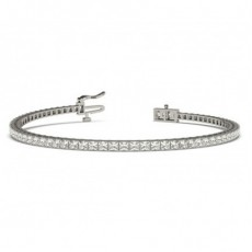 Prong Setting Princess Diamond Tennis Bracelet