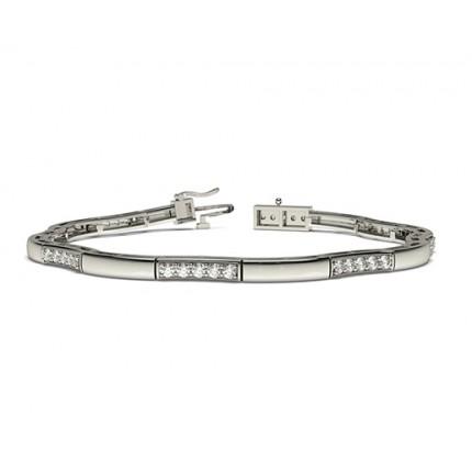 4 Prong Setting Round Diamond Designer Bracelet