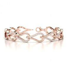 Round Rose Gold Evening Bracelets