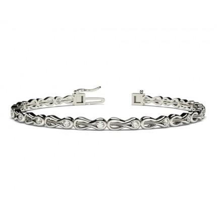 Channel Setting Round Diamond Designer Bracelet
