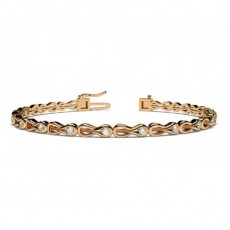 Round Rose Gold Evening Bracelets