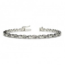 Channel Setting Round Diamond Designer Bracelet