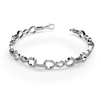 Prong Setting Round Diamond Delicate Bracelet